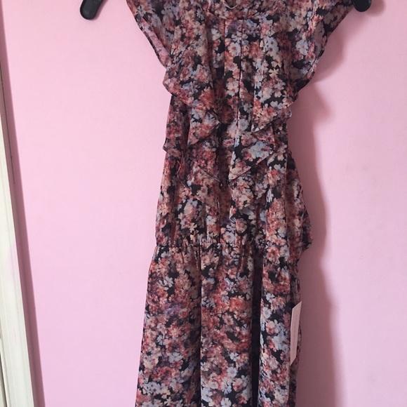 99530c678ab7 BCBGeneration Dresses | Rose Bloom Ruffle Floral Dress | Poshmark